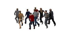 Groupe des hommes courant - illustration 3D illustration libre de droits