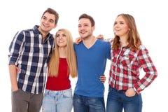 Groupe des jeunes heureux Photographie stock
