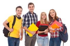 Groupe des jeunes heureux Images libres de droits