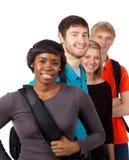 Groupe divers d'étudiants universitaires Image stock