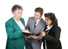 Groupe divers d'affaires - Troub Photo stock