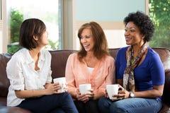 Groupe divers d'amis parlant et riant Photo libre de droits