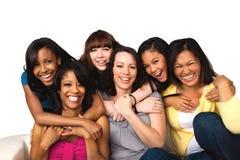 Groupe divers de mères et de filles Photos stock