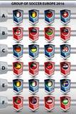 Groupe du football l'Europe Photo libre de droits
