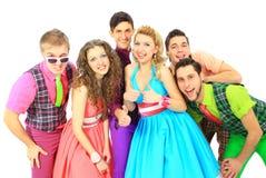 Groupe du jeune sourire Photo stock