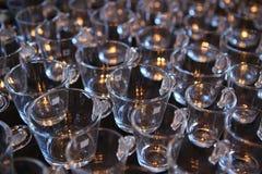 Groupe en verre de tasses de café Images libres de droits