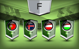 Groupe F du football Photo stock