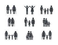 Groupe familiy réglé de membre ensemble illustration de vecteur