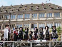 Groupe Folklorique Alsacien d'Obermodern Стоковая Фотография RF