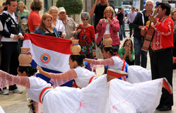Groupe folklorique de équilibrage de Paraquay, Malaga Photos libres de droits