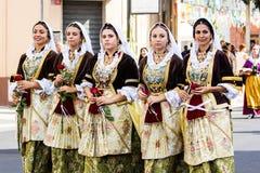 Groupe folklorique de Ruggeri de Pirri Photos stock