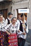 Groupe folklorique hongrois Photographie stock libre de droits