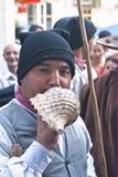 Groupe folklorique portugais. Les hommes joue a  Photographie stock libre de droits