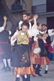 Groupe folklorique sicilien Image stock