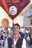 Groupe folklorique sicilien Photos libres de droits