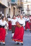 Groupe folklorique sicilien de Polizzi Generosa Image stock