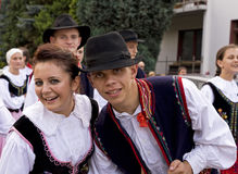 Groupe folklorique traditionnel de la Pologne Image stock