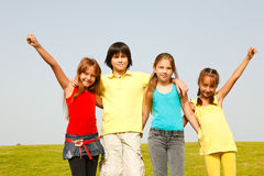 Groupe gai d'enfants Photographie stock