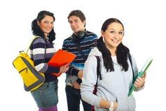 Groupe heureux d'étudiants Photographie stock