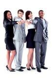 Groupe heureux d'affaires Images libres de droits