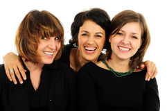 Groupe heureux d'amis Image stock