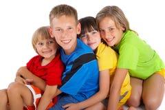 Groupe heureux d'enfants Images libres de droits