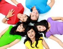 Groupe heureux de sourire d'amis Photo libre de droits