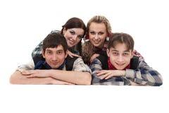 Groupe heureux de sourire d'amis Photographie stock