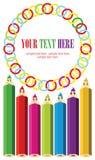 Groupe heureux de visages de crayon en tant que réseau social Images libres de droits