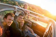 Groupe heureux des vacances Photos libres de droits