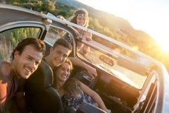 Groupe heureux des vacances Image libre de droits