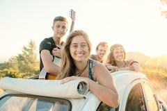 Groupe heureux des vacances Photographie stock libre de droits