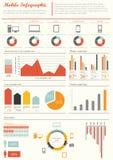 Groupe infographic   Photos stock