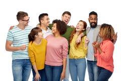 Groupe international de personnes riantes heureuses Image libre de droits