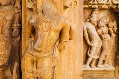 Groupe Jain de temples dans le khajuraho, Inde image libre de droits