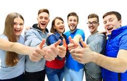 Groupe joyeux heureux d'amis image libre de droits