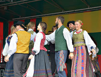 Groupe lithuanien Poringe de musique folk Photo stock