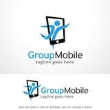 Groupe Logo Template Design Vector mobile, emblème, concept de construction, symbole créatif, icône Photo libre de droits