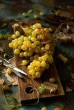 Groupe mûr et juteux de raisin jaune photos libres de droits