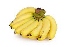Groupe mûr de bananes d'isolement sur le fond blanc Photos libres de droits