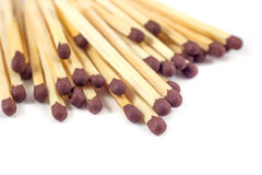 Groupe of match sticks isolated on white background Royalty Free Stock Photography