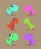 Groupe mignon de dinosaure Photo stock
