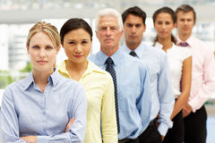 Groupe mixte de gens d'affaires Image libre de droits