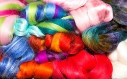 Groupe mixte de laine lumineuse Photo stock