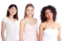 Groupe multi-ethnique de femme Images libres de droits