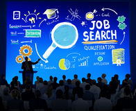Groupe multi-ethnique Job Search Seminar Conference Concept d'affaires Image stock