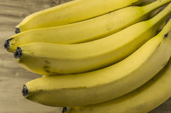 Groupe naturel frais de banane Photo stock