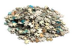 Groupe non résolu de puzzles Images stock
