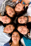 Groupe occasionnel d'amis Image stock