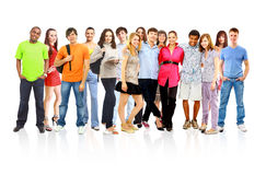 Groupe occasionnel d'amis excited Image stock
